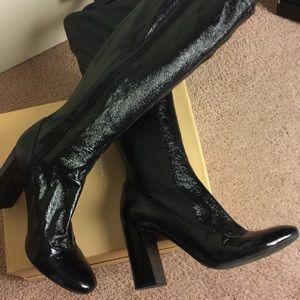 Enzo Angiolini Black patent boots